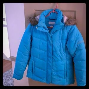 Ladies slim fit size medium blue Columbia coat